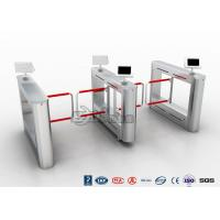 China Flap Turnstile With Secure Visitor Registration 600mm Passager / 900mm Wheelchair Lanes wholesale