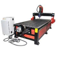 China 4*8 Feet 4 Axis Wood CNC Router with Underneath Rotary Axis/Mach3 Control wholesale