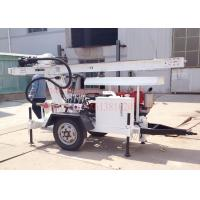 China 2Wheel Trailer mounted hydraulic water well drilling,suit for DTH air drilling and mud pump drilling wholesale