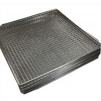 China Woven wire grill mesh basket for holding glass plate stainless steel 304 wholesale