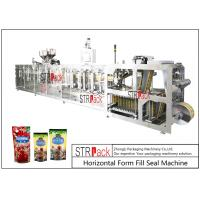 China PLC Control Stand Up Pouch Filling And Sealing Machine For ketchup / Sauce 120BPM wholesale