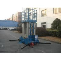 China Four Mast Blue Hydraulic Lift Ladder Electric Motor With 12 m Platform Height wholesale