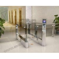 China Waterproof Automatic flap barrier sliding gate system with barcode identification Security Optical Access Control Gate wholesale