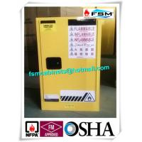 China Steel Yellow Industrial Safety Cabinets For Laboratory Flammable / Dangerous Goods wholesale