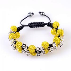 China OEM / ODM Crystal & Alloy & Magnetite & Nylon string Tresor Paris Shamballa Bracelets wholesale