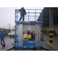 China 12 Meter Blue Mobile Elevated Working Platforms , Four Mast Electric Ladder Lift wholesale