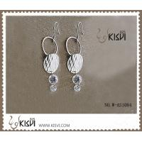 China 925 Fashion jewelry sterling silver gemstone earrings with PP bag packing W-AS1084 wholesale