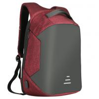 China Waterproof Students Work Daypack Anti-theft Travel Backpack Business Laptop School Book Bag with USB Charging Port wholesale