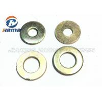 China Color Plated Flat Washers Plain Carbon Steel Round Head For Iron Stamping Out wholesale