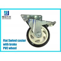 China 3-5 inch PVC / ESD Flat Free Swivel Caster Wheels Plate - mount With Brake Assembly on sale