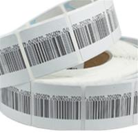 Buy cheap High detection rate round customized cloth Soft label with barcode printing from wholesalers