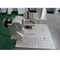 Quality 20W Aluminum Material Fiber Laser Marking Machine with Rotary Clamp for sale