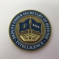 China 1.5 Inch 1.75 Inch 2 Inch Unique Challenge Coins , Plating Antique 3D Challenge Coins wholesale