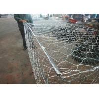 Quality Woven Hexagonal Wire Mesh Gabion Basket / Gabion Wall Cages 10 - 15 Years Life Time for sale