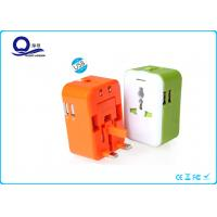 China 5V 2.4A Ipad / Ipod USB Double Port Power Adapter Plugs For Travelling / Business Trip wholesale