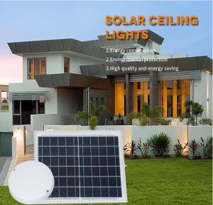 China Solar Energy Round Solar LED Ceiling Lamp , LED Emergency Lamp   Energy Saving on sale