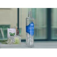 China Soda Lime 700Ml Large Glass Wine Bottles Clear With Decal Printing wholesale