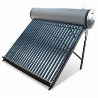 China Copper coil compact pressurized rooftop solar water heater wholesale