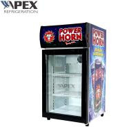 China Commercial Countertop Display Fridge Single Glass Door Appearance Luxury on sale