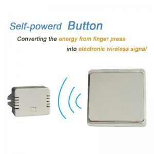 China Battery-free Wireless Wall Switch Remote Control Light Switch Waterproof IPX7 No Battery No Wire on sale