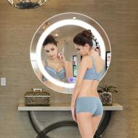 China Round And Rectangular Bathroom Mirror , Hotel Light Up Mirror With Bluetooth on sale