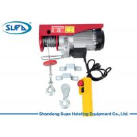 China Easy Installation Electric Wire Rope Hoist Single Phase Power Supply CE Approved wholesale