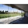 China Air Proof Aluminium Folding Doors Anodized Silver Frameless Glass Bi Fold Doors wholesale