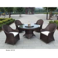 China 5 pc rattan dining set outdoor furniture garden wicker dining table & chair furniture wholesale