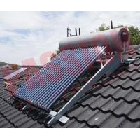 China Integrated Pressurized Rooftop Solar Water Heater Silver Steel Outer Tank wholesale