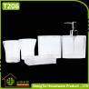 China Elegant European Design Popular White Transparent Bath Gift Set wholesale