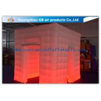 China Popular Oxford Material Square Inflatable Photo Booth Kiosk Tent With Led wholesale