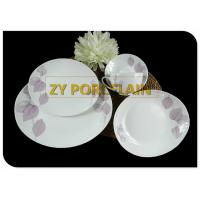 China Restaurant Tableware Coupe Dinner Plates , Low Heat Conductivity Round Coupe Plate wholesale