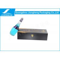China Matte Lamination Recycled Wine Packing Boxes Wooden Gift Boxes With Foam Insert on sale