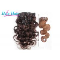 China Clip In Body Wave / Straight Unprocessed Brazilian Human Hair For Black Women wholesale