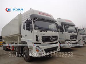 China Dongfeng Kinland 8x4 40m3 grain electrical auger discharge poultry animal bulk feed transport truck wholesale