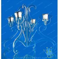 China CH (27) tall Acrylic hurricane candle holders wholesale