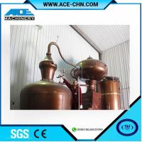 China Copper Alcohol Distillation Equipment System For Sale & Copper Whiskey Still Equipment For Sale wholesale