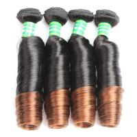 China Wholesale 7A grade Ombre Color Spring Curl Brazilian Hair Extension wholesale