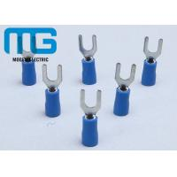 China SV 1.25-4 blue insulator copper Insulated Wire Terminals spade female wire terminals wholesale