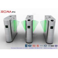 China Flap Barrier Gate Security Subway Turnstile Barrier Gate Automatic Half Height Turnstile wholesale