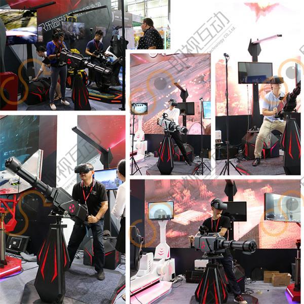 VR Gatlin 360 Degree Interactive Shoot Product Standing Battle Virtual Reality Shooting Simulator 9D VR