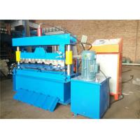 Trapezoidal IBR Roof Panel Roll Forming Machine , Metal Roofing Roll Former 4KW