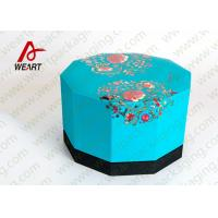 China Blue Lid & Black Base Cardboard Food Packaging Boxes , Decorative Cardboard Boxes With Lids on sale