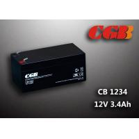 China 12V 3.4AH AGM UPS Lead Acid Battery , Alarm System Recharge Ups Battery wholesale