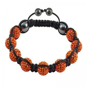 China 10mm Jacinth Crystal Beads MOQ 1 PC Tresor Paris Shamballa Crystal Bangle Bracelets wholesale