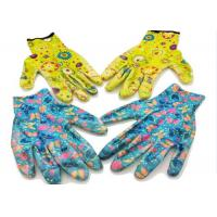 China Pretty Ladies Gauntlet Gardening Gloves Corrosion Resistance Knitted Wrist on sale