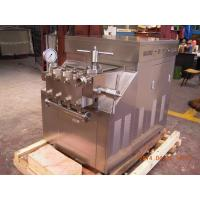 Buy cheap Industrial High Pressure Homogenizer 90mpa High Power 2500ltr / Hr from wholesalers
