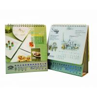China Universal Table Calendar Printing / Monthly Calendar With Green Hot Foil Stamped Logo on sale