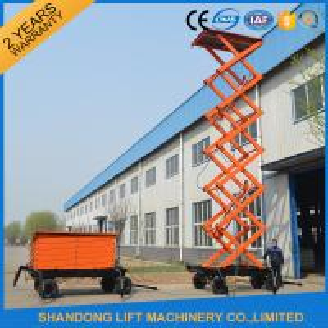 China High Raising 4 Wheel Aerial Work Platform ,  CE 18m Hydraulic Electric Mobile Scissor Tables wholesale