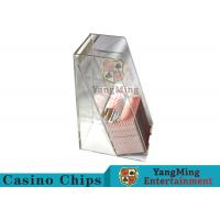 China Casino Dedicated Poker Discard Holder , Playing Card Tray Holder For 2 Decks wholesale